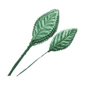 Yeşil Yaprak Dalı 2.5cm x 5.5cm 12li