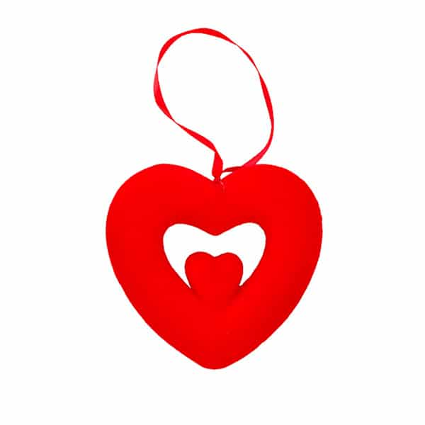 İç İçe Kalp Dekor Süs Küçük 1 Adet