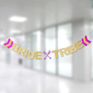 Bride and Tribe Simli Harf Banner 19x14,5cm 2m 1 Adet