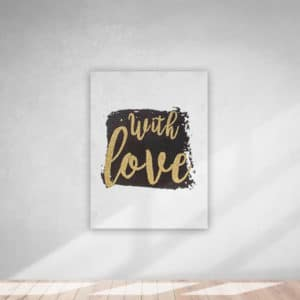 Kanvas Tablo With Love 30x40cm 1 Adet