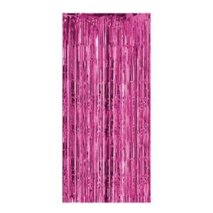 Metalik Pembe Renk Kapı Perdesi 1 Adet