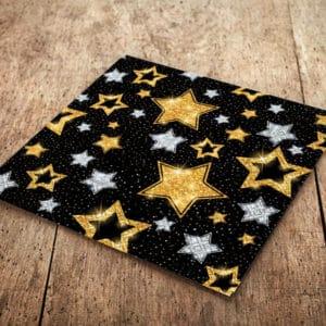 Siyah Yıldızlar Temalı Kağıt Peçete 33x33cm 20li