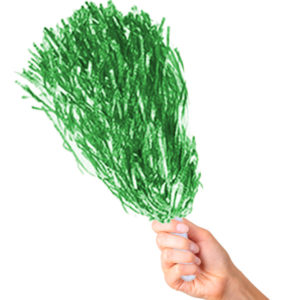 Metalik Yeşil Renk Amigo Ponpon 2li