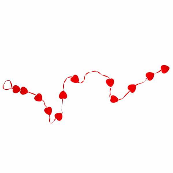 Dizili Küçük Kalpler Asma Süs 12li