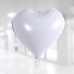 Kalp Folyo Balon 45cm (18 inch) Beyaz 1 Adet