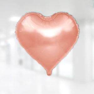 Kalp Folyo Balon 60cm (22 inch) Rose Gold 1 Adet