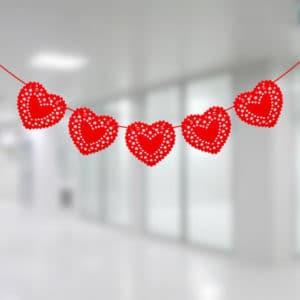 Keçe Kalpler Asma İp Süs 265cm 1 Adet
