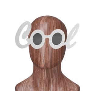 Cool Yazılı Gözlük Beyaz