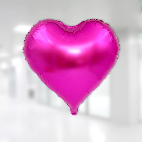 Kalp Folyo Balon 60cm (22 inch) Fuşya 1 Adet