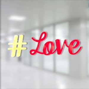 Love Kırmızı Folyo Harf Afiş 365cm x 15cm 1 Adet