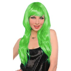 Yeşil Renk Uzun Peruk 1 Adet