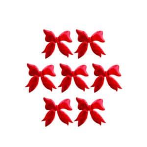 Fiyonk Şekilli Kırmızı Renk Sticker 5.5 x 5.5cm 10 lu