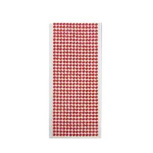 Elmas Görünümlü Kırmızı Sticker 500lü