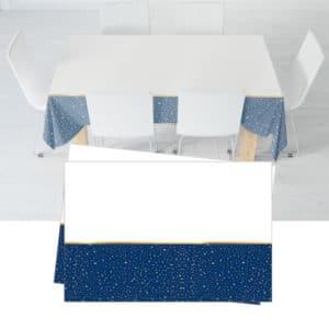 Parti Zamanı Temalı Lacivert Renk Plastik Masa Örtüsü 120x180 cm 1 adet