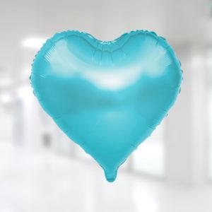 Açık mavi kalp şekilli folyo balon 45 cm 18 inc