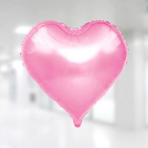 Kalp Şekilli Pembe Renk Folyo Balon 45cm (18 inch)