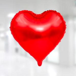 Kalp Folyo Balon 25cm (10 inch) Kırmızı 1 Adet