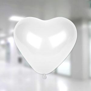 Beyaz Renk Lateks Kalp Balon 10lu