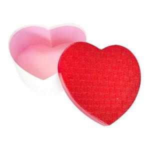 Metalik Kalp Hediye Kutusu 21 x 20 x 9cm 1 Adet