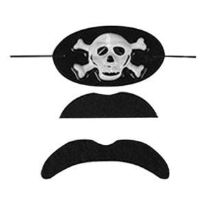 Göz Maskeli Korsan Bıyık Set 3lü
