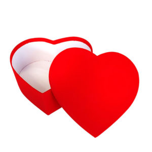 Kalp Şekilli Hediye Kutusu 25x23x10