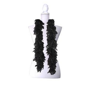 Siyah Renk Kalın Kaz Tüyü Otriş 2m 1 Adet