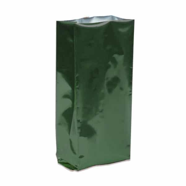 Yan Körüklü Torba Yeşil Alüminyum 10x34x6 cm