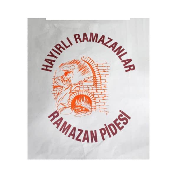 Beyaz Ramazan Pide Kese Kağıdı 30x41x6 cm