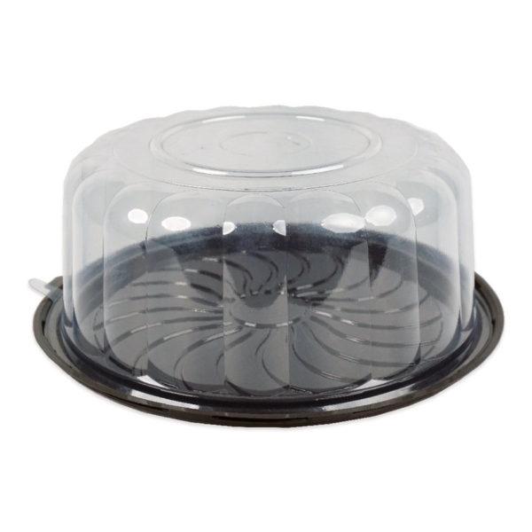Plastik Yaş Pasta Kutusu Çap-24.5 h-10 cm 20 Adetli Paketlerde